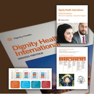 Samples of work done for Dignity Healthy by Banahan